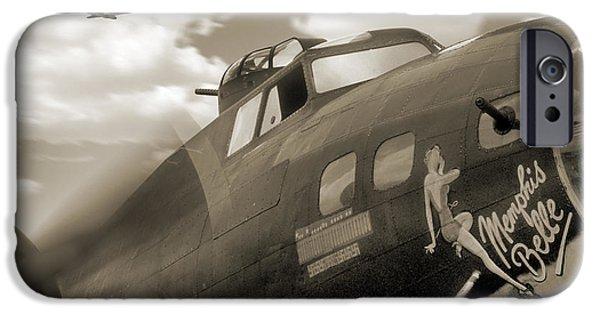 Warbird iPhone Cases - B - 17 Memphis Belle iPhone Case by Mike McGlothlen
