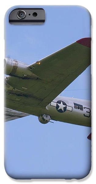 B-17G Aluminum Overcast iPhone Case by Tim Mulina