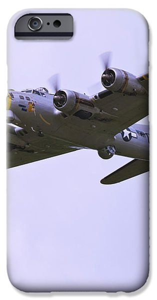 B-17G Liberty Belle approach 8x10 special iPhone Case by Tim Mulina