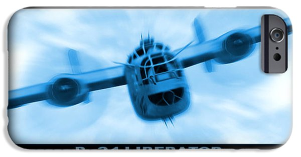 Warbird iPhone Cases - B-24 Liberator iPhone Case by Mike McGlothlen