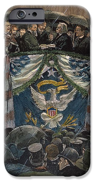 Inauguration iPhone Cases - B. Harrison: Inauguration iPhone Case by Granger