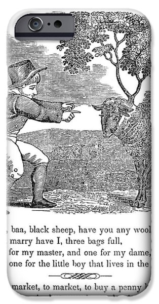 Munroe iPhone Cases - Baa, Baa, Black Sheep, 1833 iPhone Case by Granger
