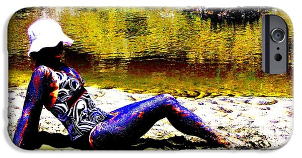 Tidal Creek iPhone Cases - Babe In The Mud iPhone Case by Pamela Iris Harden