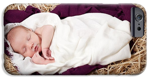 Daydreams Art Photographs iPhone Cases - Baby Jesus Nativity iPhone Case by Cindy Singleton