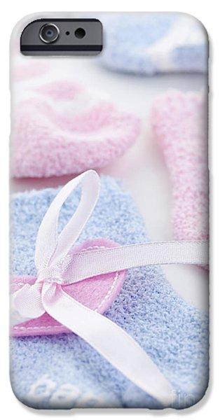 Socks iPhone Cases - Baby socks  iPhone Case by Elena Elisseeva
