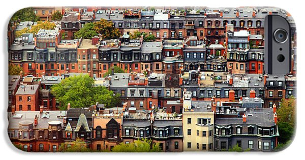 Rooftop iPhone Cases - Back Bay iPhone Case by Rick Berk