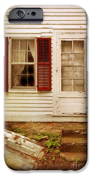 Back Door of Old Farmhouse iPhone Case by Jill Battaglia