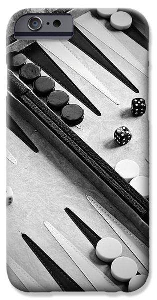 Strategy iPhone Cases - Backgammon iPhone Case by Joana Kruse