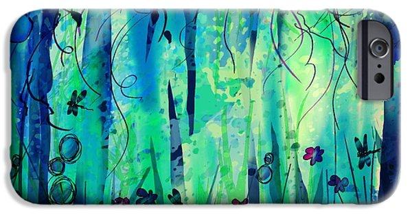 Hallucination iPhone Cases - Backyard Dreamer iPhone Case by Rachel Christine Nowicki