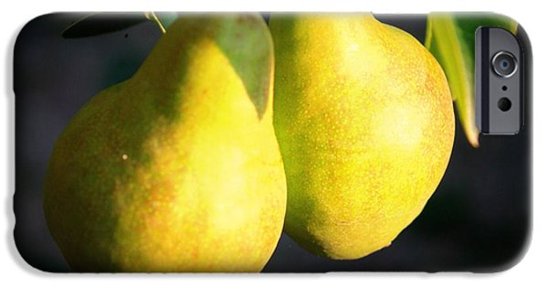 Pears iPhone Cases - Backyard Garden Series - Two Pears iPhone Case by Carol Groenen
