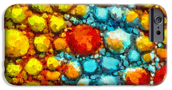 Cellular Mixed Media iPhone Cases - Bacteria 1 iPhone Case by Angelina Vick