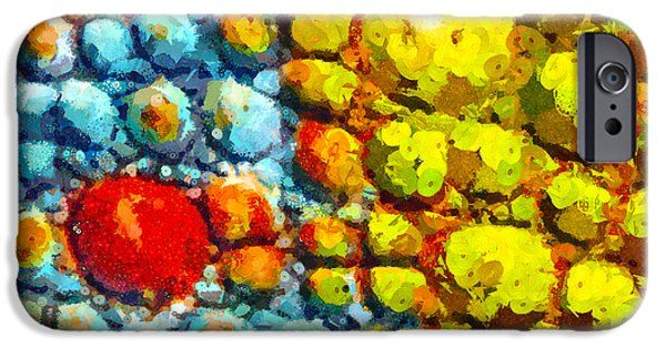 Cellular Mixed Media iPhone Cases - Bacteria 3 iPhone Case by Angelina Vick