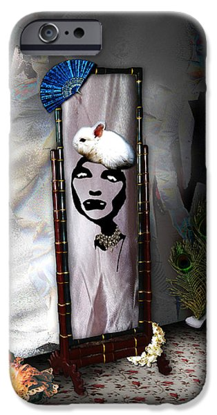 Digital Art Of High Heels iPhone Cases - Bad Hare Day iPhone Case by Paula Ayers