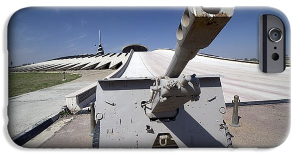 Baghdad iPhone Cases - Baghdad, Iraq - An Iraqi Howitzer Sits iPhone Case by Terry Moore