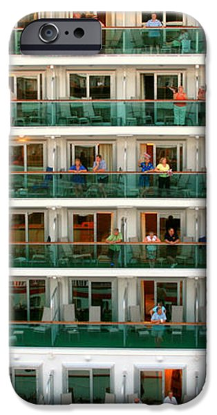 Balcony People iPhone Case by Perry Webster
