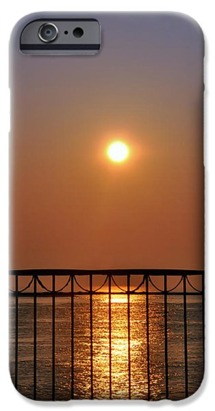 Balcony iPhone Cases - Balcony Sunrise iPhone Case by Bill Cannon