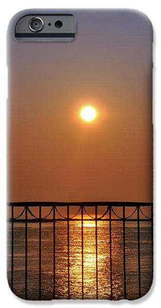 Balcony Digital Art iPhone Cases - Balcony Sunrise iPhone Case by Bill Cannon