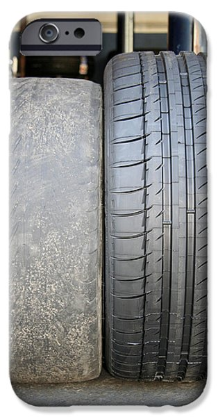 Bald And New Tyres iPhone Case by Cordelia Molloy