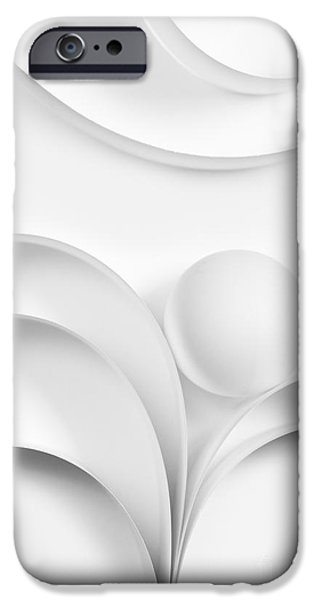 Geometrical iPhone Cases - Ball and Curves 02 iPhone Case by Nailia Schwarz