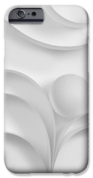 Geometrical iPhone Cases - Ball and Curves 03 iPhone Case by Nailia Schwarz