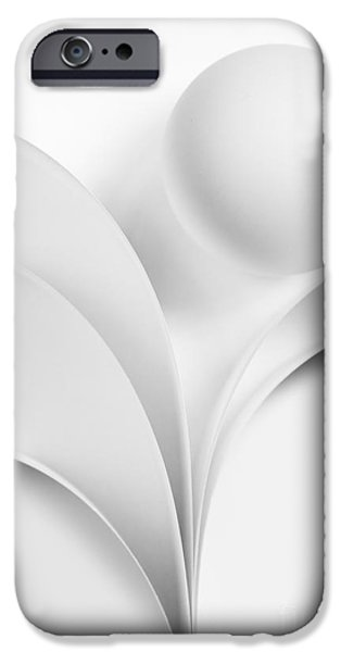 Abstract Forms iPhone Cases - Ball and Curves 07 iPhone Case by Nailia Schwarz