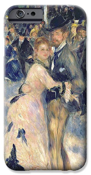 Boaters iPhone Cases - Ball at the Moulin de la Galette iPhone Case by Pierre Auguste Renoir
