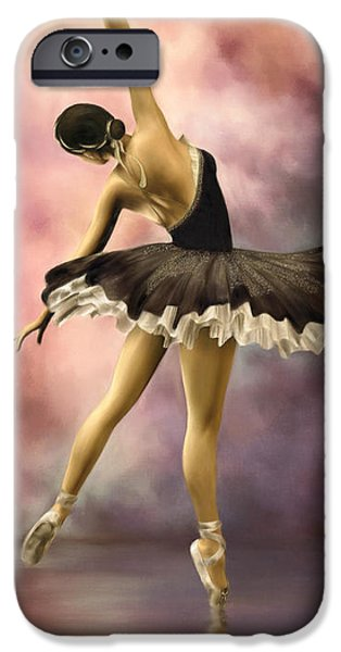 Ballerina Artwork iPhone Cases - Ballerina iPhone Case by AnaCB Studio