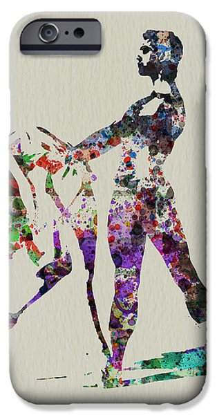 Relationship Paintings iPhone Cases - Ballet Dance iPhone Case by Naxart Studio