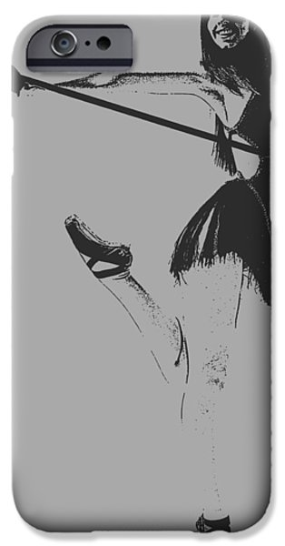 Ballet Digital Art iPhone Cases - Ballet girl iPhone Case by Naxart Studio