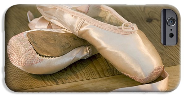 Practice iPhone Cases - Ballet shoes iPhone Case by Jane Rix