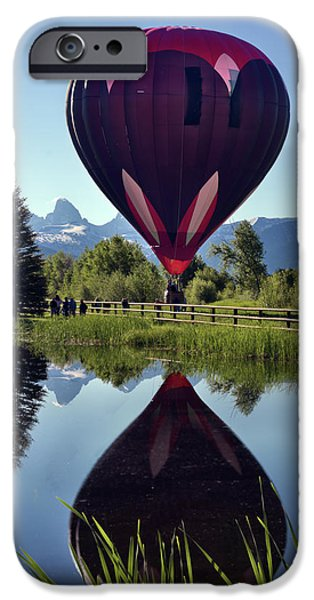 Hovering iPhone Cases - Balloon Reflection iPhone Case by Leland D Howard