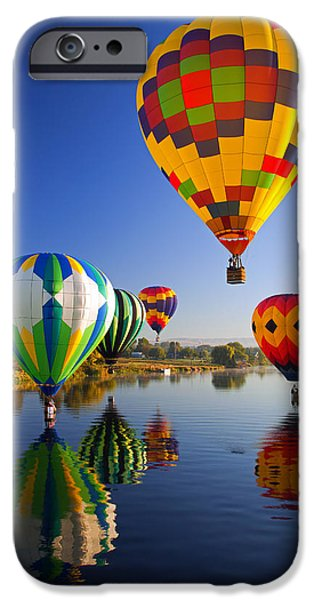 Balloon iPhone Cases - Balloon Reflections iPhone Case by Mike  Dawson