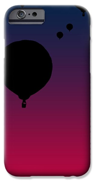 Hot Air Balloon iPhone Cases - Balloons at Dusk iPhone Case by Jera Sky