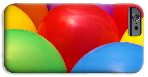 Helium iPhone Cases - Balloons Background iPhone Case by Carlos Caetano