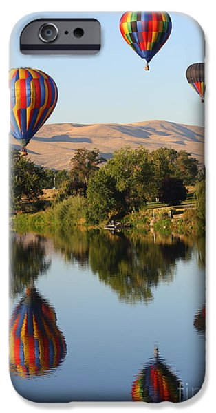 Yakima Valley iPhone Cases - Balloons over Horse Heaven iPhone Case by Carol Groenen