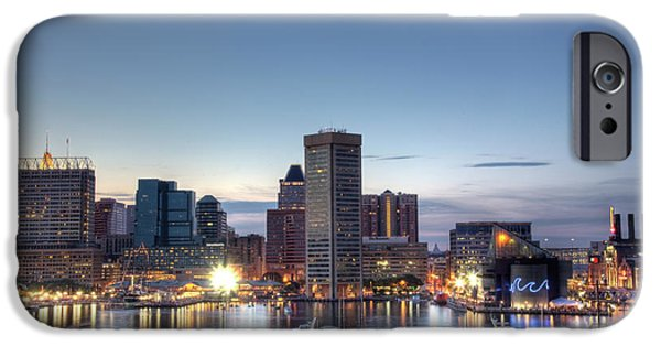 Baltimore iPhone Cases - Baltimore Harbor iPhone Case by Shawn Everhart