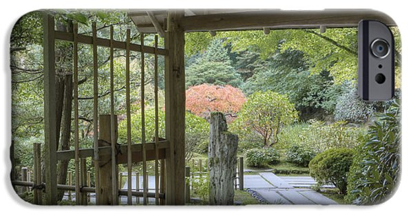 Bamboo Fence iPhone Cases - Bamboo Gate And Traditional Arch iPhone Case by Douglas Orton