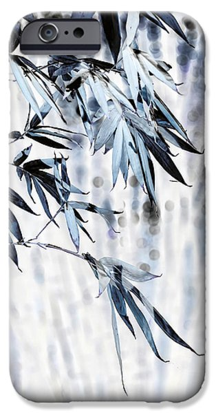 Bamboo Leaves iPhone Cases - Bamboo II iPhone Case by Wayne Sherriff