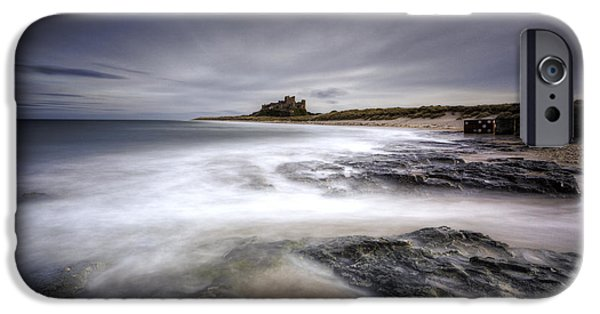 Sand Castles iPhone Cases - Bamburgh Castle iPhone Case by Roddy Atkinson