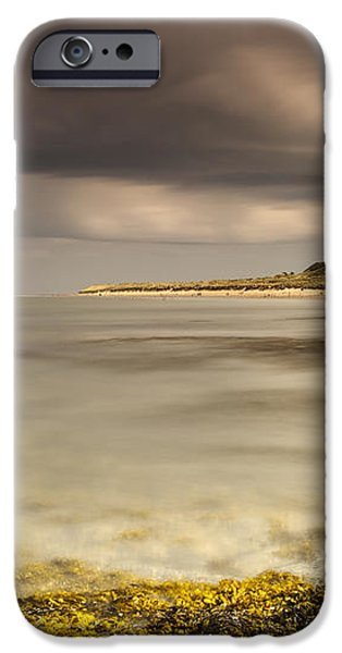 Bamburgh Castle Under A Cloudy Sky iPhone Case by John Short