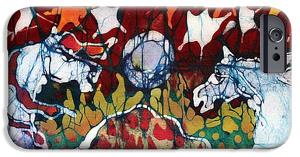 Horse Tapestries - Textiles iPhone Cases - Band of Horses iPhone Case by Carol Law Conklin