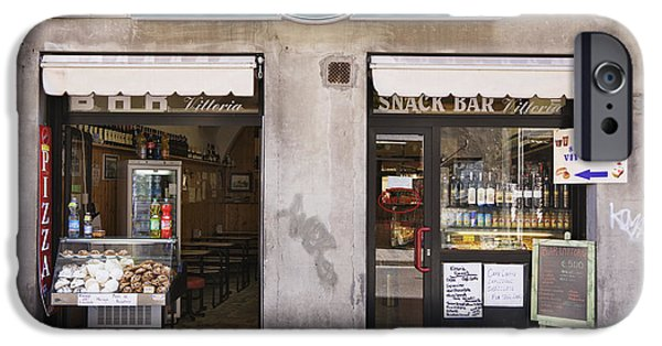 Snack Bar iPhone Cases - Bar Caffe iPhone Case by Jeremy Woodhouse