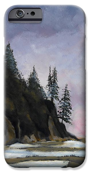 Maine Landscapes Paintings iPhone Cases - Bar Harbor iPhone Case by John Chehak
