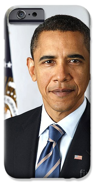 Obama Photographs iPhone Cases - Barack Obama (1961- ) iPhone Case by Granger