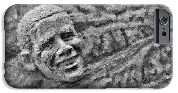 Barack Obama iPhone Cases - Barack Obama  iPhone Case by Blake Richards