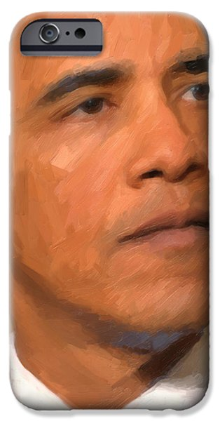 Barack Obama iPhone Case by Nop Briex