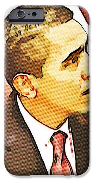 Barack Obama iPhone Case by Susan Leggett
