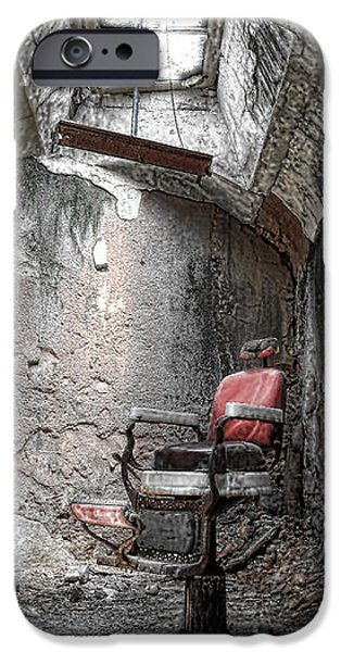 Barber - Chair - Eastern State Penitentiary iPhone Case by Paul Ward