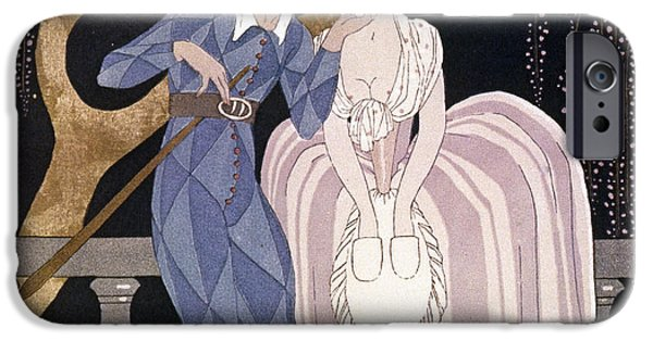 Georges Barbier iPhone Cases - Barbier: Artful Servant iPhone Case by Granger