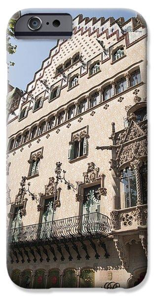 Barcelona Casa Amatller building iPhone Case by Matthias Hauser